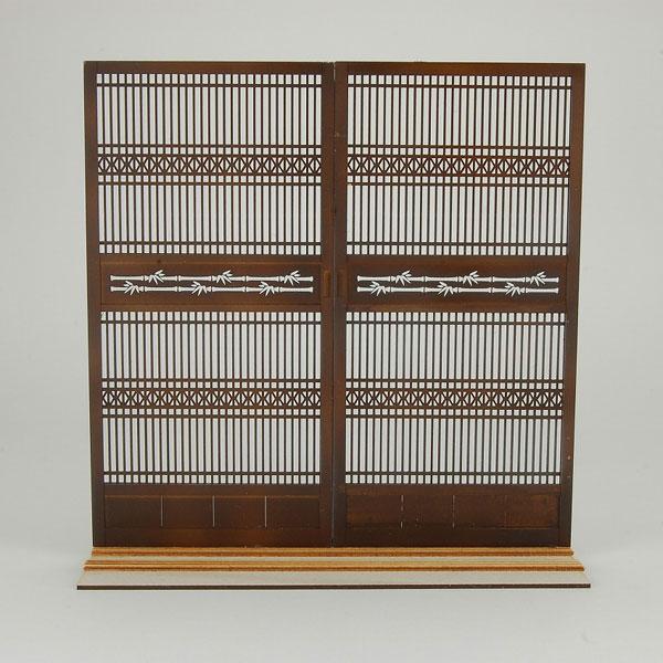 木製組立キット 和の造作 1/12 和柄つき格子戸1[コバアニ模型工房]《在庫切れ》