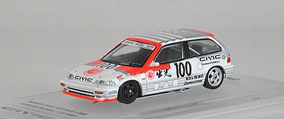 """1/64 ホンダ シビック EF3 Gr.A #100 """"IDEMITSU MOTION"""" JTC 1989[INNO Models]《08月仮予約》"""