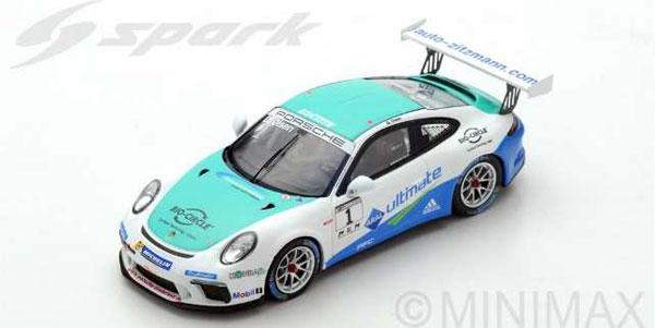 1/43 Porsche 911 GT3 Cup No.1 Porsche Carrera Cup Germany Champion 2017 Dennis Olsen[スパーク]《09月仮予約》