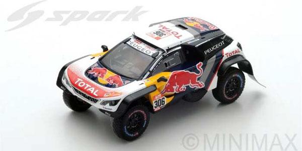 1/43 Peugeot 3008 DKR Maxi No.306 - Team Peugeot Total - Dakar 2018 S. Loeb - D. Elena[スパーク]《10月仮予約》