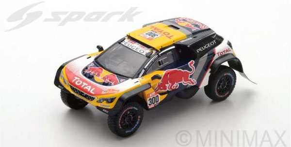 1/43 Peugeot 3008 DKR Maxi No.300 - Team Peugeot Total - Dakar 2018 S. Peterhansel - J.-P. Cottret[スパーク]《08月仮予約》