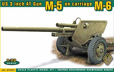 1/72 米・3インチM5対戦車砲M6砲架 プラモデル[ACE]《発売済・在庫品》