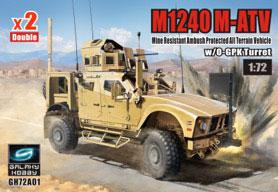 1/72 M1240 (M-ATV) MRAP w/O-GPK砲塔 (2キット入り) プラモデル[ギャラクシーホビー]《08月予約》