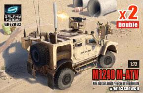 1/72 M1240 (M-ATV) MRAP w/M153 CROWSII (2キット入り) プラモデル[ギャラクシーホビー]《08月予約※暫定》