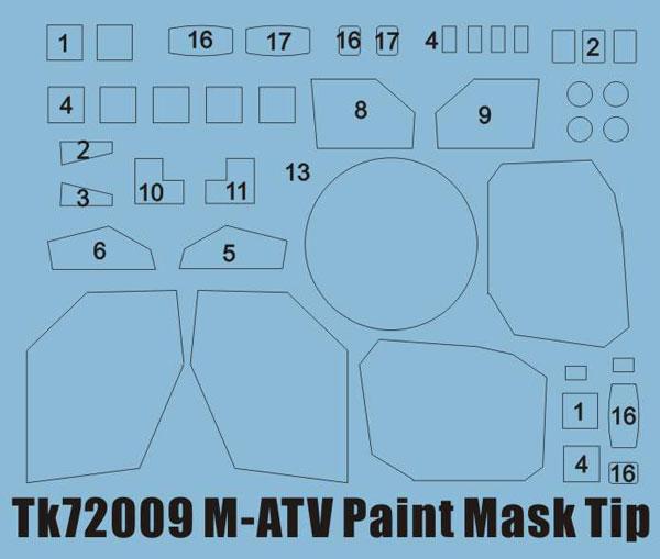 1/72 M-ATV用ペイントマスクシール (ギャラクシーホビー用)[ティーモデル]《07月予約》