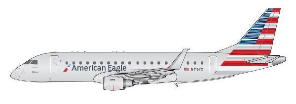 1/400 Gemini Jets アメリカンイーグル ERJ-175 N416YX[ジェミニ]《07月仮予約》