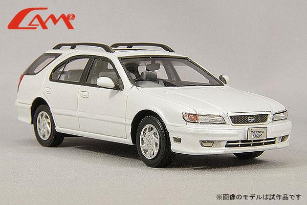 1/43 日産 セフィーロ ワゴン (WA32) 1997年型 プラチナホワイトパール[CAM@]《在庫切れ》