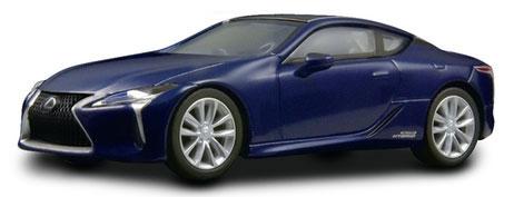 1/64 レクサス LC500h -- ブルー[京商]《在庫切れ》