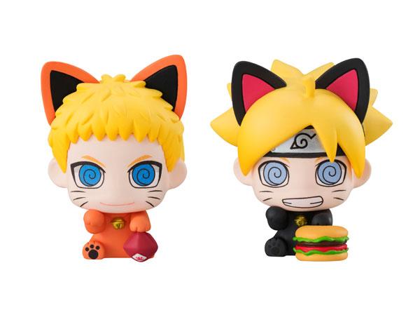 ぷちきゃらランド 招き猫 BORUTO-ボルト- NARUTO NEXT GENERATIONS 親子招き猫だってばさ! マスコットフィギュア2個セット