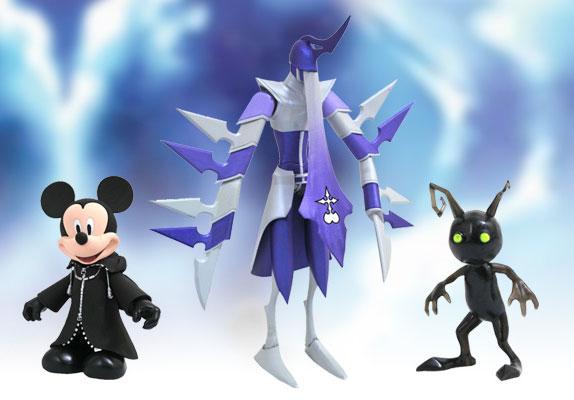 キングダム ハーツII アクションフィギュア ミッキーマウス(XIII機関版)&アサシン&シャドウ