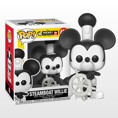 ポップ! 『ディズニー』「ミッキーマウス スクリーンデビュー90周年」ミッキーマウス(『蒸気船ウィリー』版)