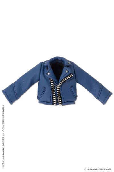 ピコニーモ用 1/12 Wライダースジャケット ブルー (ドール用)[アゾン]《発売済・在庫品》