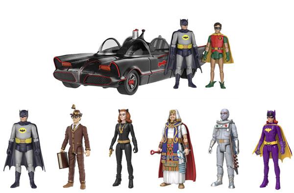 『バットマン 1966年TVシリーズ』 3.75インチ アクションフィギュア 7種セット