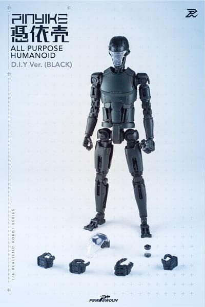 1/6 リアリスティック ロボット シリーズ ロボティック ヌードボディ ピンヤイク DIY ver. ブラック