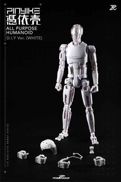 1/6 リアリスティック ロボット シリーズ ロボティック ヌードボディ ピンヤイク DIY ver. ホワイト