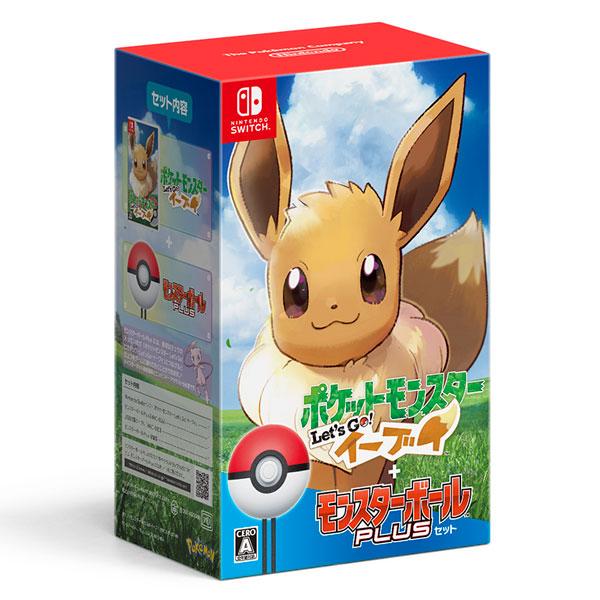 【中古】(本体A-/箱B)Nintendo Switch ポケットモンスター Let's Go! イーブイ モンスターボール Plusセット[ポケモン]《発売済・在庫品》