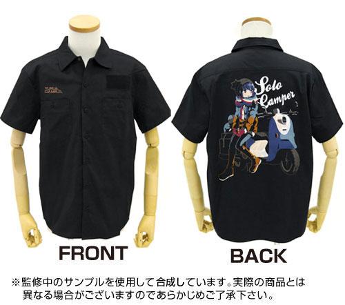 GEE!限定 ゆるキャン△ 志摩リン 刺繍ワークシャツ/BLACK-M[コスパ]【送料無料】《在庫切れ》