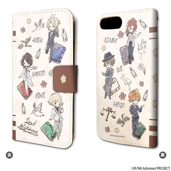 手帳型スマホケース(iPhone6/6s/7/8兼用)「TVアニメ ニル・アドミラリの天秤」01/ちりばめ(グラフアートデザイン)[A3]《在庫切れ》