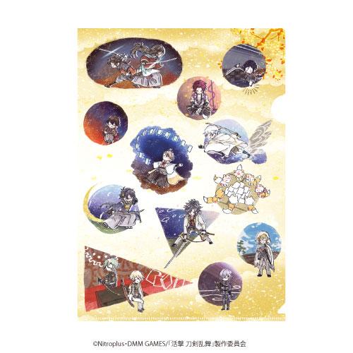 クリアファイル「活撃 刀剣乱舞」01/集合(グラフアートデザイン)[A3]《在庫切れ》