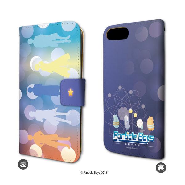 手帳型スマホケース(iPhone6/6s/7/8兼用)「Particle Boys~素粒子男子~」01/イメージデザイン[A3]《09月予約》