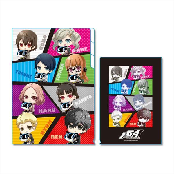 ぎゅぎゅっとクリアファイル3ポケット PERSONA5 the Animation B[ベルハウス]《発売済・在庫品》