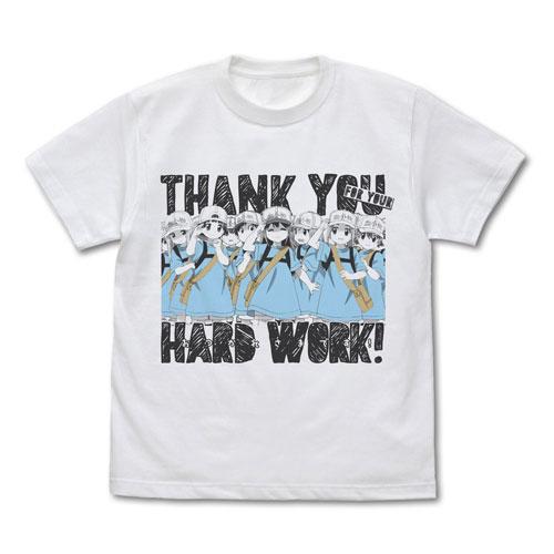 はたらく細胞 血小板のおつかれさまです Tシャツ/WHITE-XL(再販)[コスパ]《08月予約》