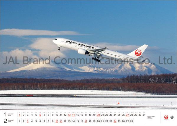 JAL「FLEET」(大型判) 2019年カレンダー[JALブランドコミュニケーション]《在庫切れ》