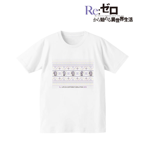 Re:ゼロから始める異世界生活 ノルディックデザインTシャツ(エミリア)/メンズ(サイズ/M)(再販)[アルマビアンカ]《08月予約》