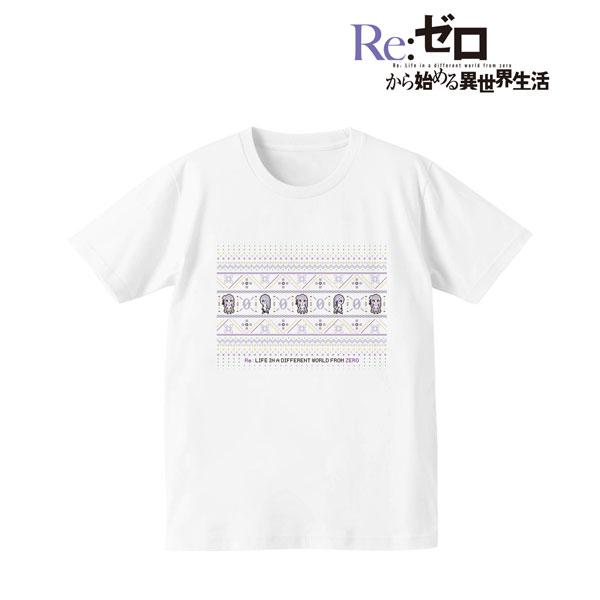 Re:ゼロから始める異世界生活 ノルディックデザインTシャツ(エミリア)/レディース(サイズ/XL)(再販)[アルマビアンカ]《08月予約》