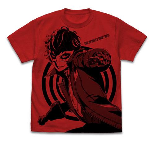 ペルソナ5(アニメ) ジョーカー オールプリントTシャツ/RED-M(再販)[コスパ]《07月予約》