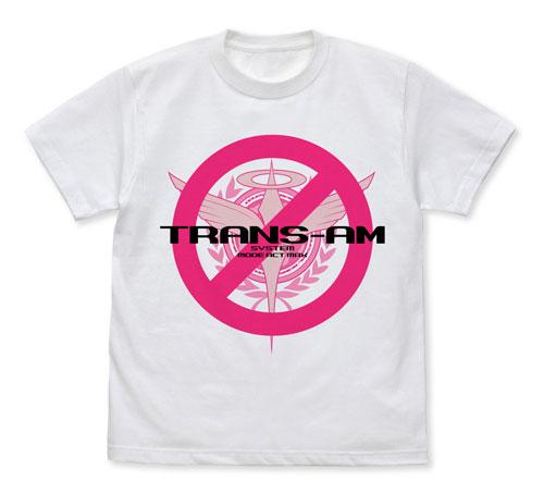機動戦士ガンダム00 トランザムは使うなよ!Tシャツ/WHITE-L