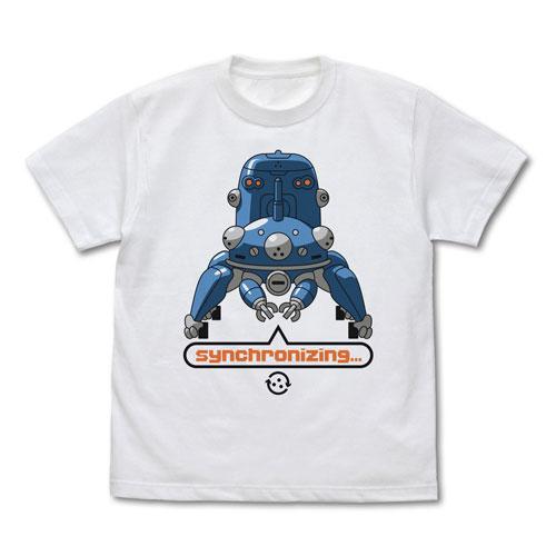 攻殻機動隊 STAND ALONE COMPLEX タチコマと同期中 Tシャツ/WHITE-L(再販)[コスパ]《10月予約》