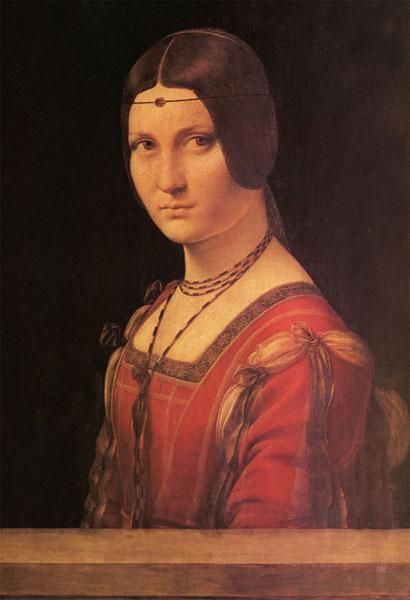 ジグソーパズル ミラノ貴婦人の肖像(ダ・ヴィンチ) 300ピース(300-182)[キューティーズ]《在庫切れ》