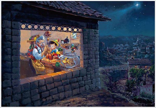 ジグソーパズル ディズニー ザ ウィッシング スター(ピノキオ) 1000ピース (D1000-035)[テンヨー]《取り寄せ※暫定》