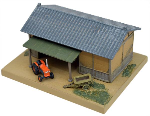 情景コレクション 情景小物070-2 農機小屋と農機A2[トミーテック]《在庫切れ》