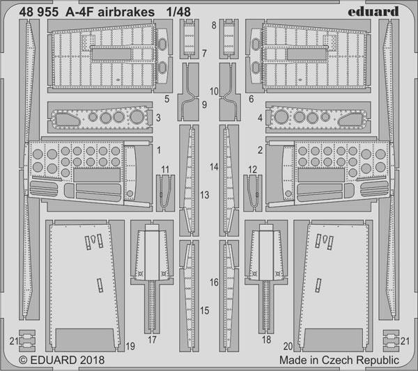 1/48 A-4F エアブレーキ (ホビーボス用)[エデュアルド]《在庫切れ》