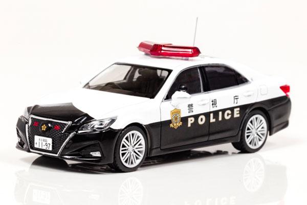 1/43 トヨタ クラウン アスリート (GRS214) 2017 警視庁高速道路交通警察隊車両[RAI'S]《在庫切れ》