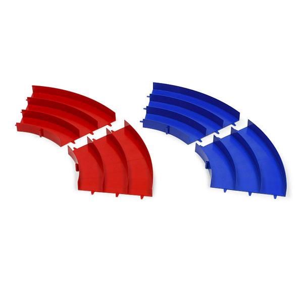 ミニ四駆 ジャパンカップ ジュニアサーキット カーブ (青/赤) 各2枚セット[タミヤ]《在庫切れ》