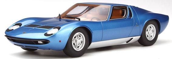 京商オリジナル 1/18 ランボルギーニ ミウラ P400S(ブルー)[京商]《発売済・在庫品》