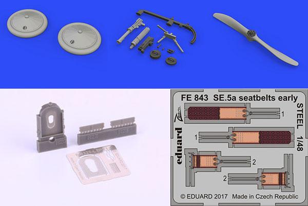 1/48 SE.5a イスパノスイザエンジン・2枚プロペラ ビッグシン (エデュアルド用)(再販)[エデュアルド]《在庫切れ》