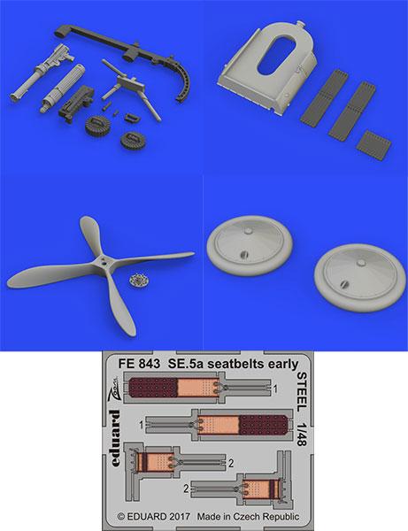 1/48 SE.5a イスパノスイザエンジン・4枚プロペラ ビッグシン (エデュアルド用)(再販)[エデュアルド]《在庫切れ》
