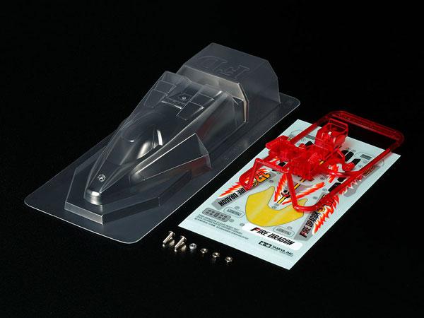 ミニ四駆特別企画 ファイヤードラゴン クリヤーボディセット (ポリカ)[タミヤ]《在庫切れ》