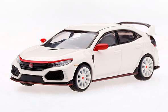 1/64 Honda シビック Type R チャンピオンシップホワイトモデューロキット装着車 (右ハンドル)[MINI GT]《11月予約》