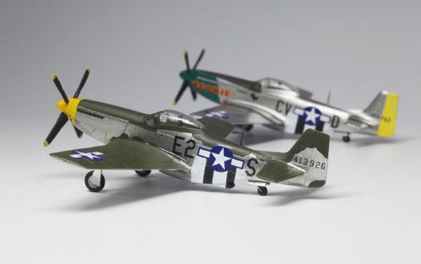1/144 WW.II アメリカ軍 P-51D マスタング (2機セット) プラモデル[プラッツ]《取り寄せ※暫定》