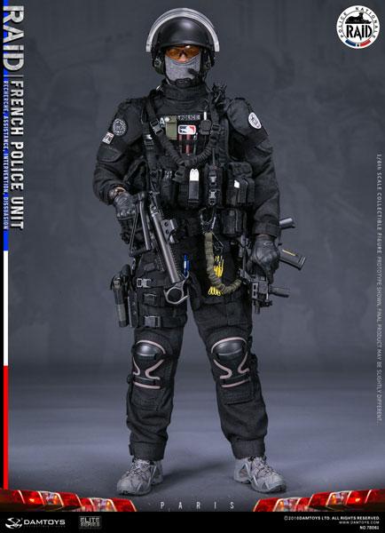 フランス国家警察特別介入部隊(RAID) 1/6 可動フィギュア