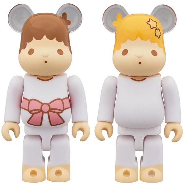 BE@RBRICK Little Twin Stars キキ & ララ セット 100%(レトロカラーVer.) 2 PACK[メディコム・トイ]【送料無料】《発売済・在庫品》