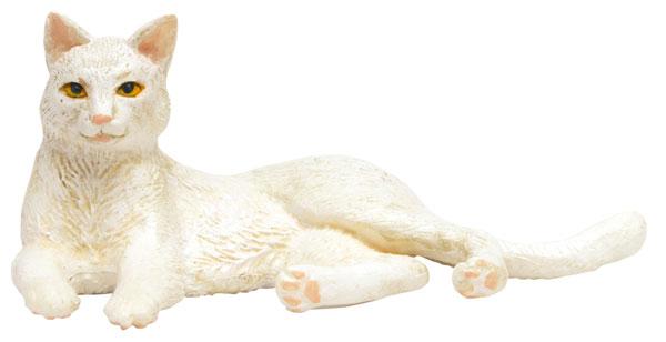 1/12 和ねこ 白猫 (寝そべり) 完成品フィギュア