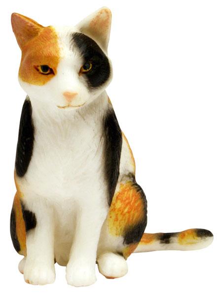 1/12 和ねこ 三毛猫 (座り) 完成品フィギュア[プラッツ]《在庫切れ》