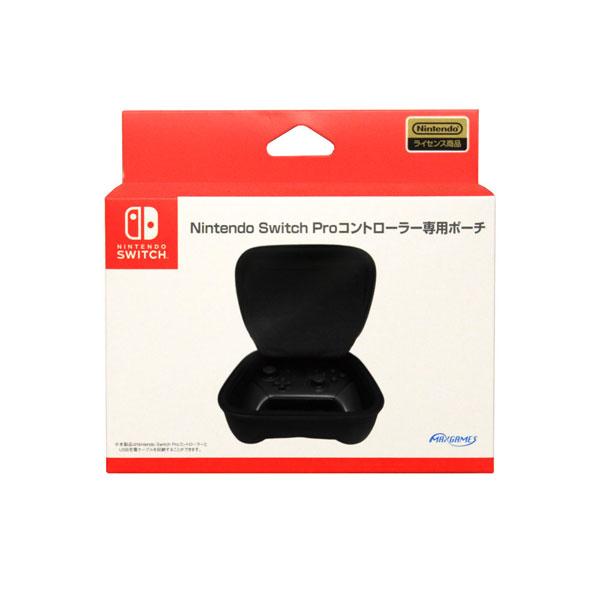 Nintendo Switch Proコントローラー専用ポーチ ブラック[マックスゲームズ]《在庫切れ》