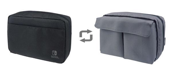 まるごと収納リバーシブルポーチ for Nintendo Switch[ホリ]《発売済・在庫品》